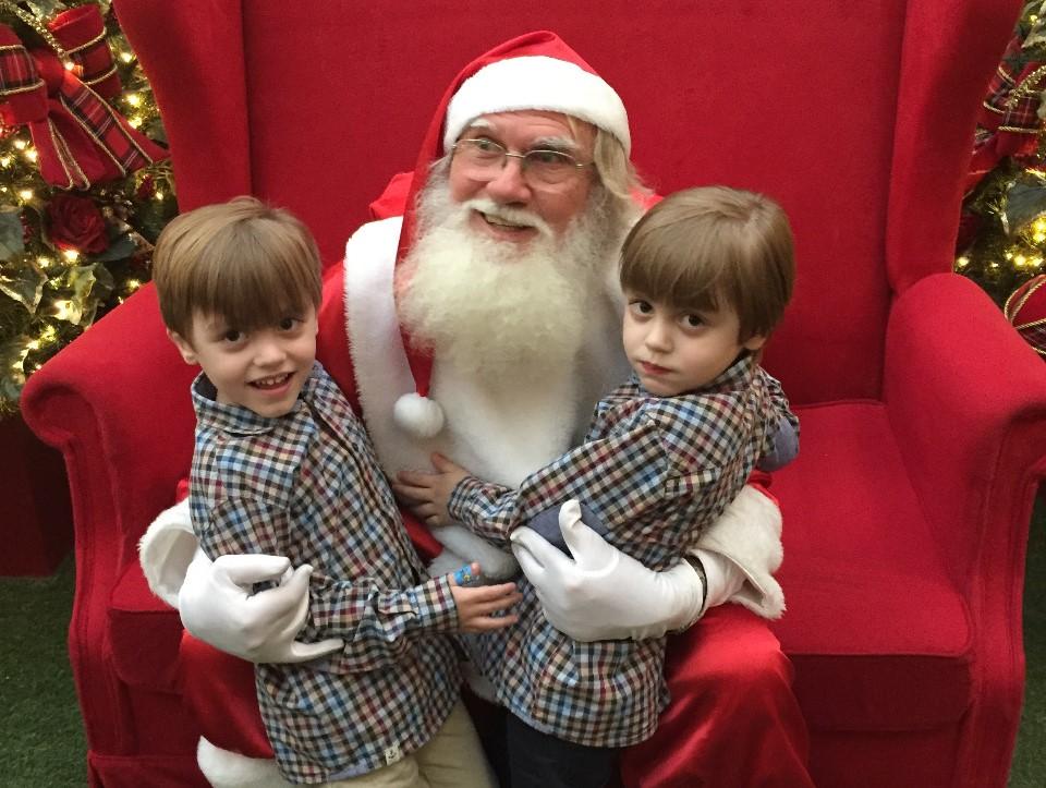 natal, gêmeos, presentes, crianças, papai noel