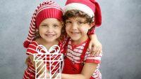 natal, presente, gêmeos, crianças