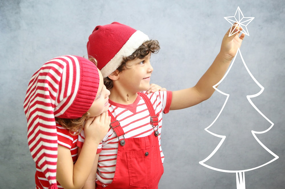 natal, presentes, crianças, gêmeos